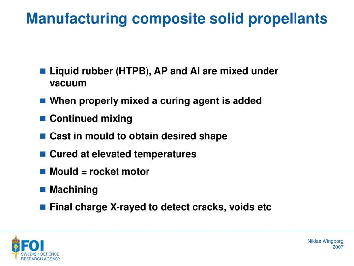 Manufacturing composite solid propellants