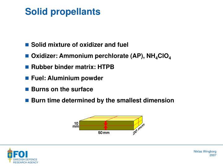 Solid propellants