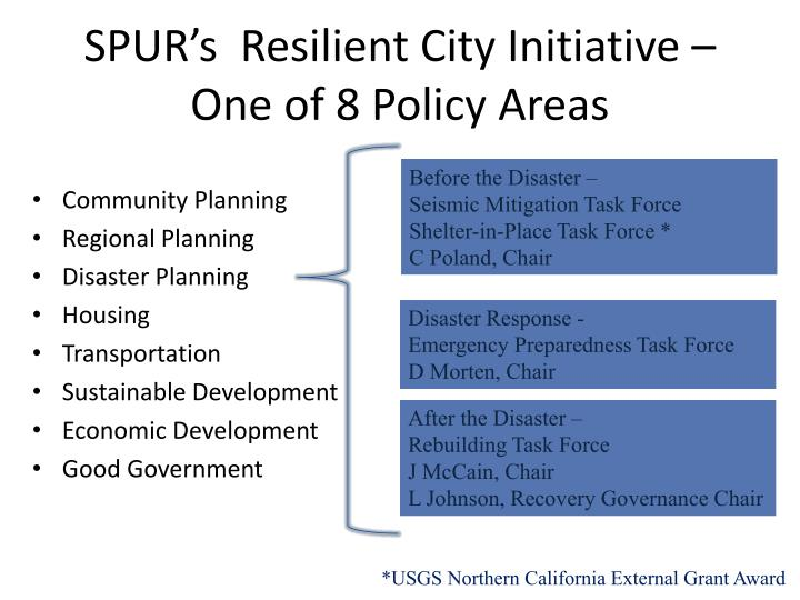 SPUR's  Resilient City Initiative –