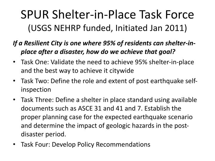 SPUR Shelter-in-Place Task Force