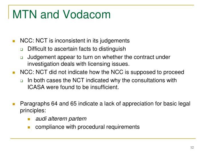 MTN and Vodacom