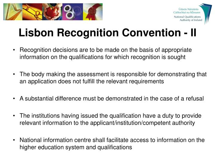 Lisbon Recognition Convention - II