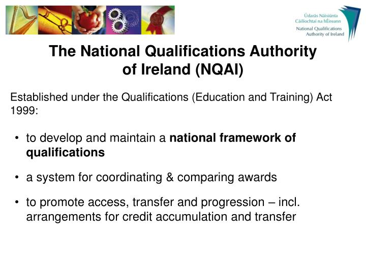 The national qualifications authority of ireland nqai