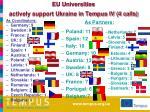 eu universities actively support ukraine in tempus iv 4 calls as partners