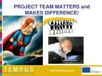project team matters and makes difference