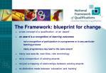 the framework blueprint for change