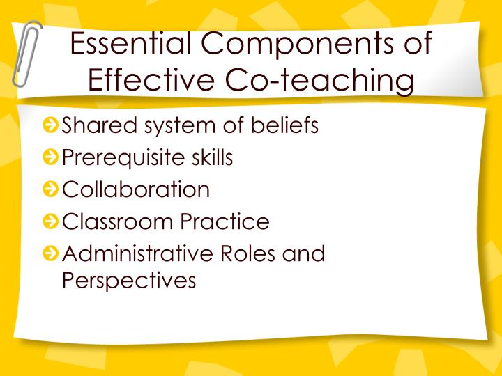 Essential Components of Effective Co-teaching