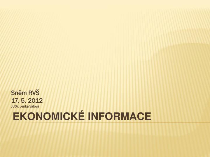 Ekonomick informace