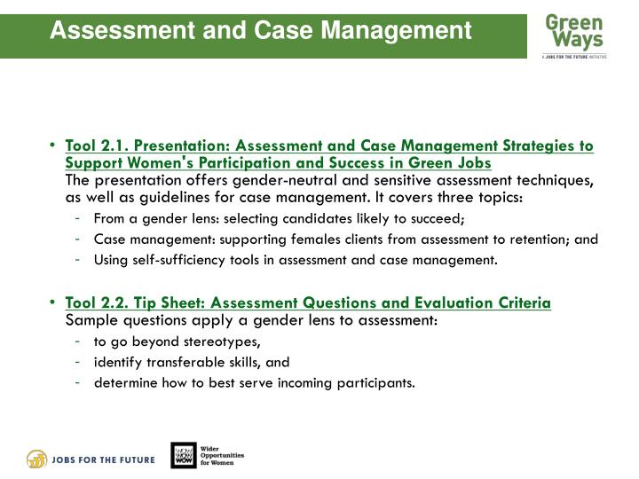 Assessment and Case Management