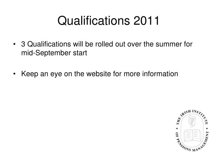 Qualifications 2011