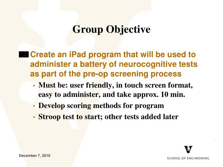 Group Objective