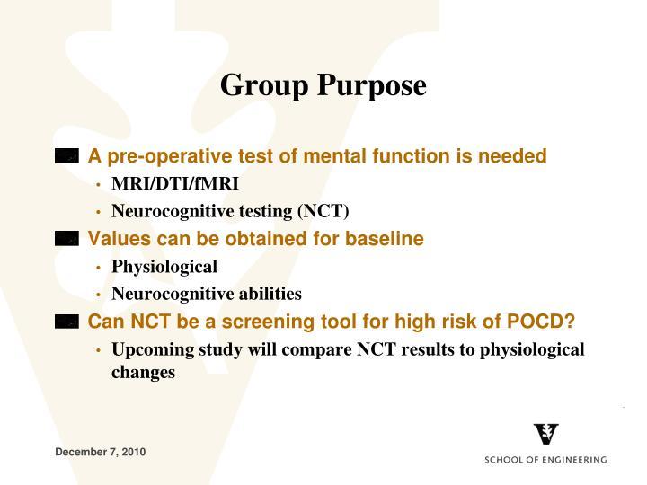 Group Purpose
