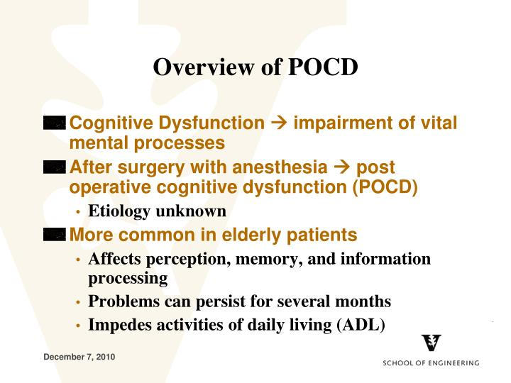 Overview of pocd