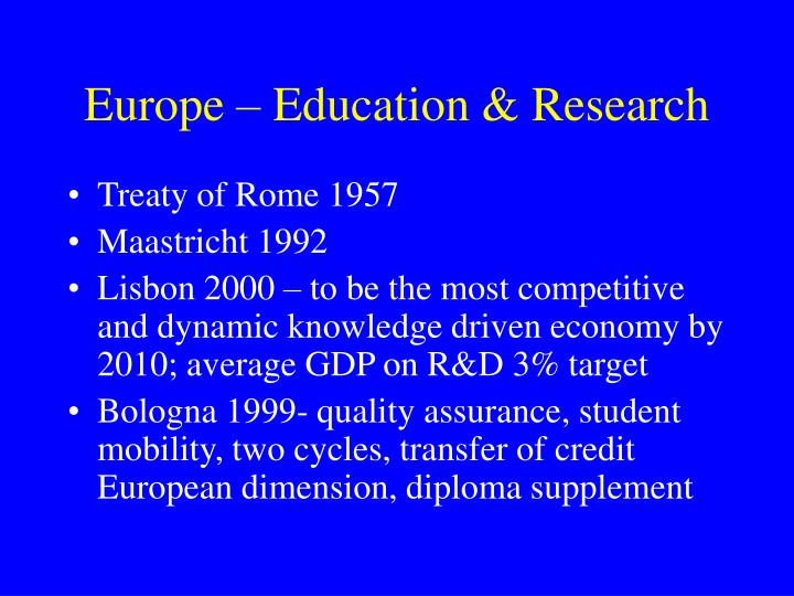 Europe – Education & Research