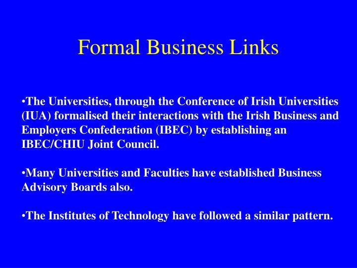 Formal Business Links