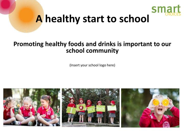 A healthy start to school