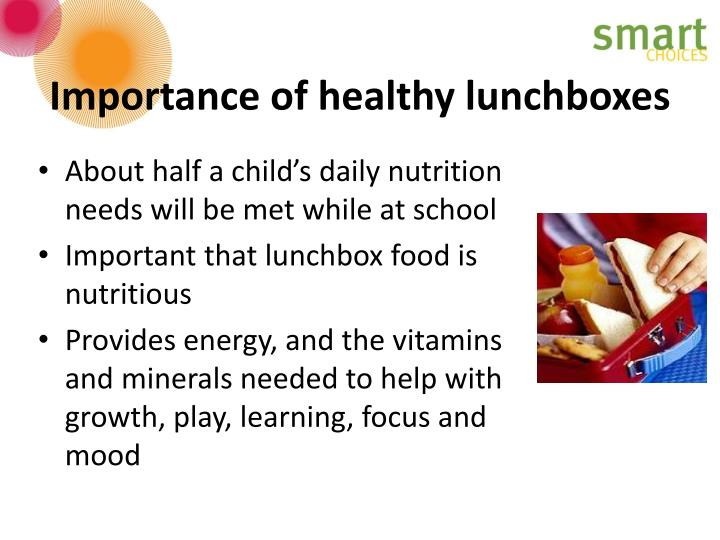 Importance of healthy lunchboxes