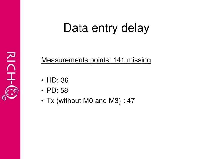 Data entry delay