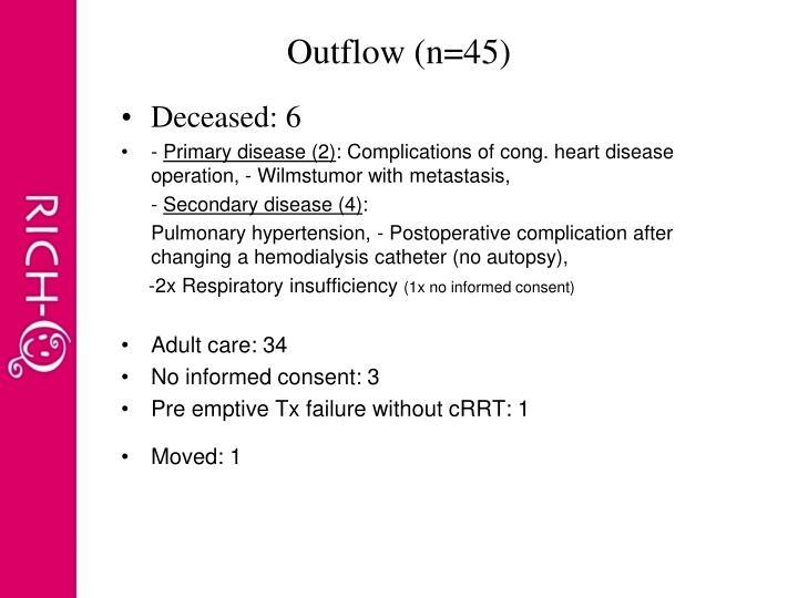 Outflow (n=45)