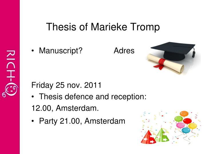 Thesis of Marieke Tromp