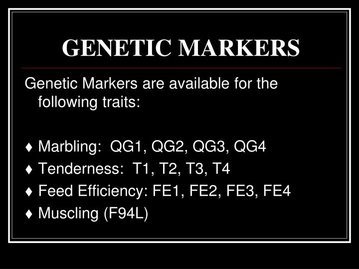 Genetic markers