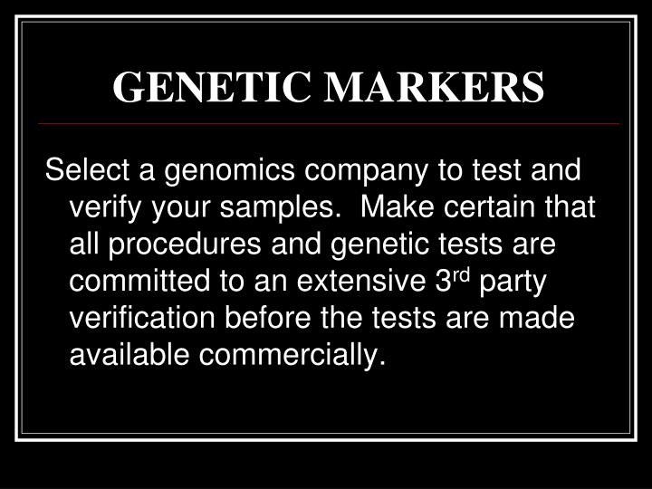 Genetic markers1