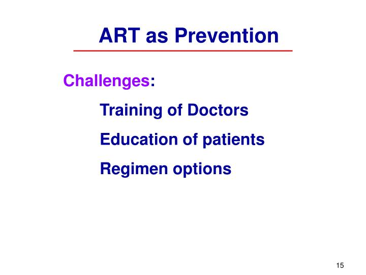 ART as Prevention