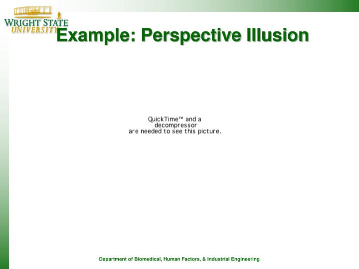 Example: Perspective Illusion