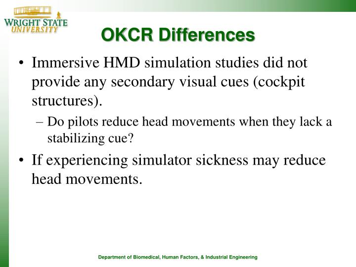 OKCR Differences