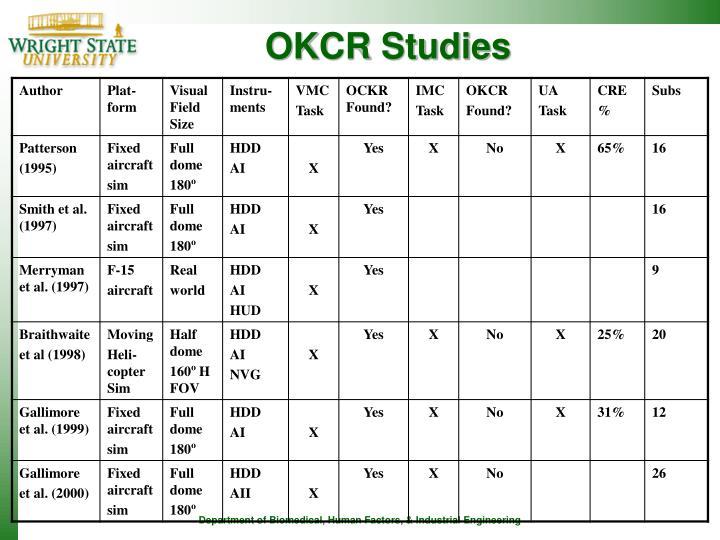 OKCR Studies