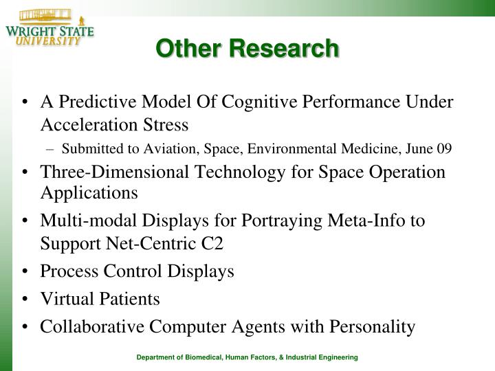 Other Research