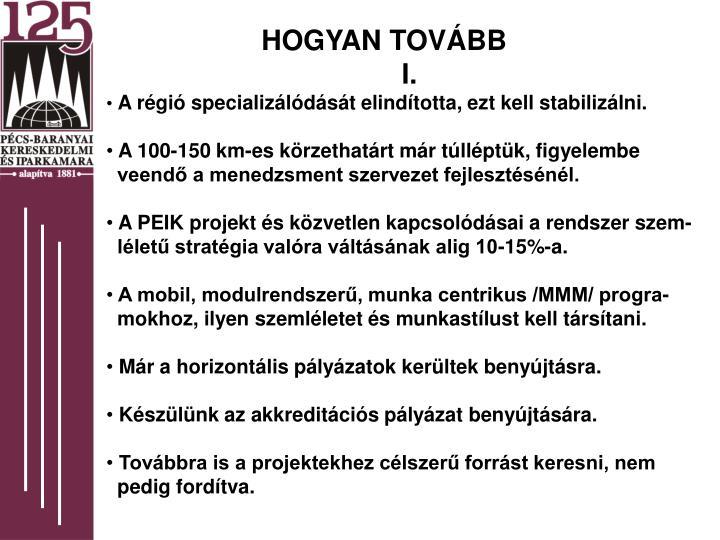 HOGYAN TOVÁBB