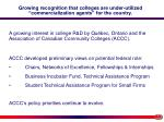 growing recognition that colleges are under utilized commercialization agents for the country