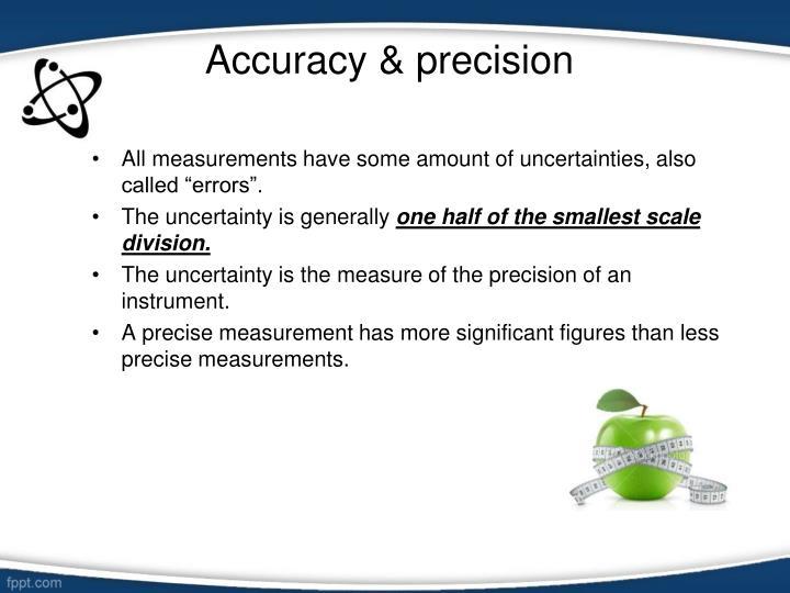 Accuracy precision