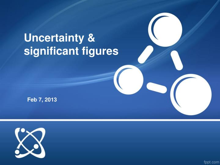 Uncertainty significant figures