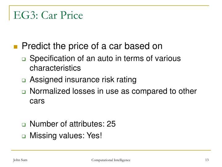 EG3: Car Price