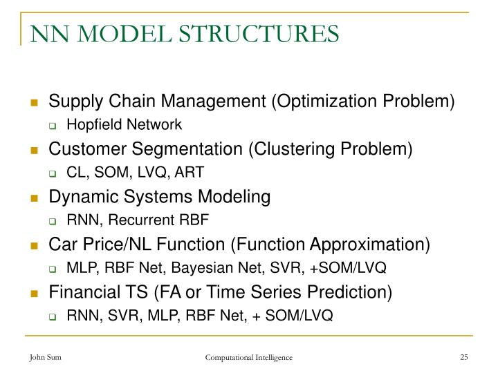 NN MODEL STRUCTURES
