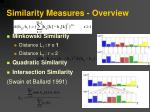 similarity measures overview