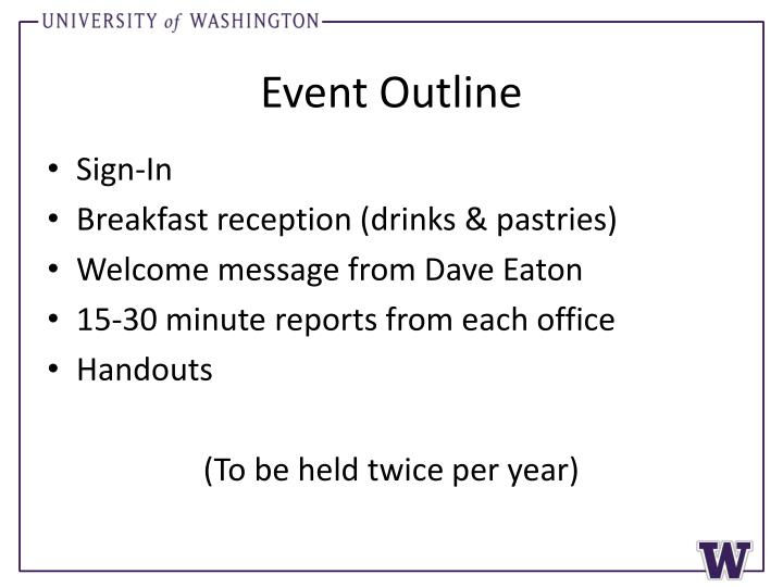 Event Outline