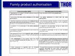 family product authorisation1