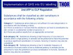 implementation of ghs into eu labelling1
