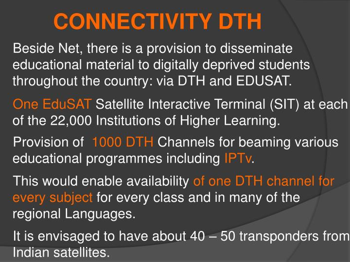 CONNECTIVITY DTH