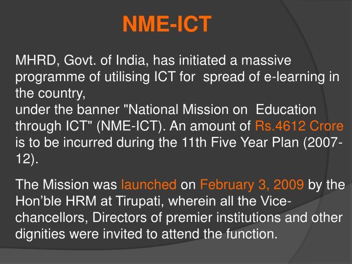 NME-ICT