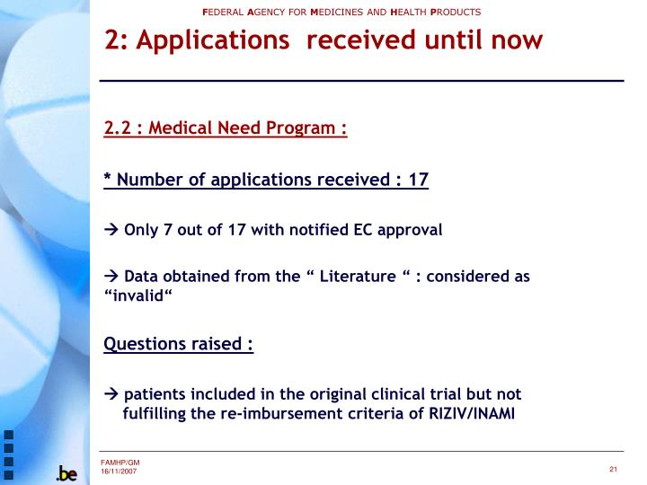 2.2 : Medical Need Program :