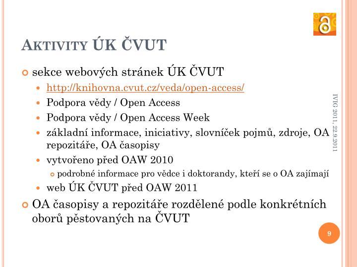 Aktivity ÚK ČVUT