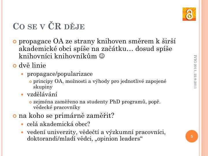 Co se v ČR děje