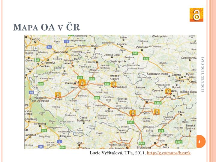 Mapa OA v ČR