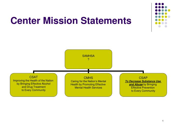 center mission statements n.