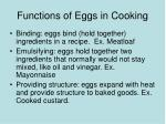 functions of eggs in cooking