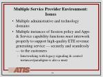 multiple service provider environment issues